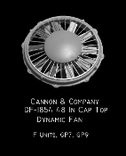1854 48 In Cap Top Dynamic Brake Fan