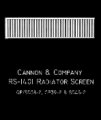 1401 Radiator Screen