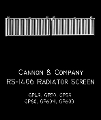 1406 Radiator Screen