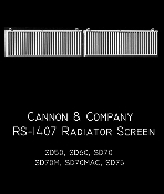 1407 Radiator Screen