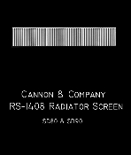 1408 Radiator Screen