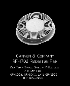 1702 Radiator Fan 48 Inch Cap Top