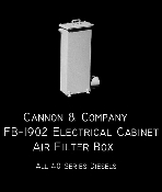 1902 Electrical Cabinet Air Filter Box