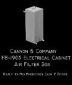 1903 Electrical Cabinet Air Filter Box
