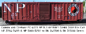 4020 NP 3764 6&8ft Combo Door Box Car