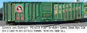 4013 GN/BN 8 & 6 ft Combo Door 50ft Box Car - Notched Sill