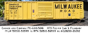 4018 MILW PC&F 10ft YSD 7 Rib Box Car