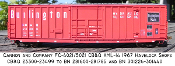 4021 CB&Q XML-14  10 ft Plug Door Box Car