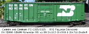 4025 BN Pullman Standard Plate C 10ft Plug Door Box Car