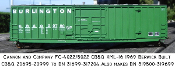 4022 CB&Q XML-16 10ft Plug Door Box Car